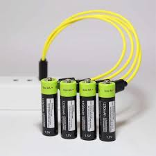 <b>ZNTER</b> 2/<b>4pcs AA Rechargeable</b> Battery 1.5V 1700mAh USB ...