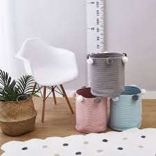 <b>1 PCS</b> INS <b>New Cotton Rope</b> Clothes Storage Basket with Balls ...