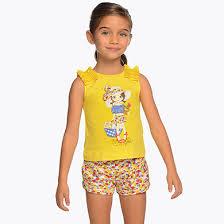 <b>Комплект</b>: <b>блузка и</b> шорты для девочки Желтый - <b>Майорал</b>