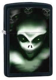 <b>Зажигалка ZIPPO Classic НЛО</b>, покрытие Black Matte - купить в ...