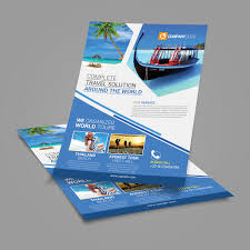 travel agency flyer template posan lab tour flyer template