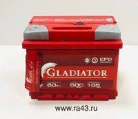 Аккумулятор <b>6ст</b>-<b>60 GLADIATOR</b> EFB п.п. Аккумулятор купить в ...