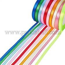 "Wholesale Satin Ribbon, Mixed <b>Color</b>, 1/4""(<b>6mm</b>), <b>25yards</b>/roll(22.86 ..."