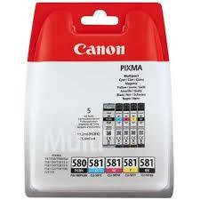 CANON <b>PGI</b>-<b>580</b> / CLI-581 BK / CMYK MULTI BL PACK <b>5</b> ...