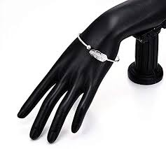 WRISTCHIE Womens <b>Fashion 925 Sterling Silver</b> Feather Bracelet ...