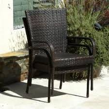brown wicker outdoor furniture dresses: overstock dress up your patio or backyard with this set of two club chairs