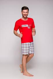 <b>Красная мужская пижама</b> с шортами - купить недорого в ...