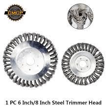 1pc <b>6 Inch</b>/<b>8 Inch</b> Steel <b>Grass</b> Trimmer Head For Power <b>Lawn</b> Mower ...