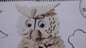 Craft kits: Hobbycraft <b>3D Wooden Puzzle</b> Owl - YouTube
