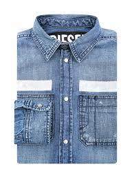 <b>Diesel</b> голубая <b>рубашка</b> из денима (514574), купить в интернет ...