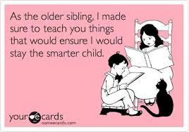Image result for older sibling smarter