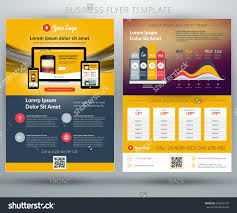 vector business flyer template mobile application stock vector vector business flyer template for mobile application or online shop