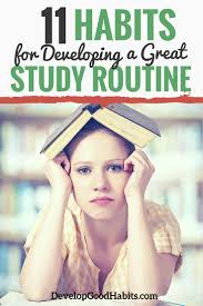 good study habits for a breakthrough routine