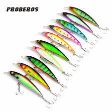 Lot 10pcs <b>11CM</b>/13.4G <b>Minnow Fishing Lure</b> Crank <b>Bait</b> Hooks Bass ...