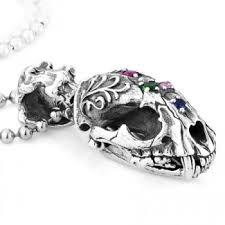 Smilodon <b>Skull Head</b> With Diamonds 925 Sterling Silver <b>Pendant</b> ...
