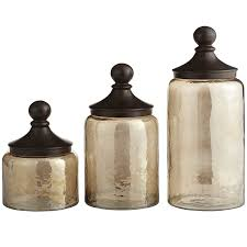 country kitchen canister sets glass
