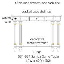 bahama game table furniture