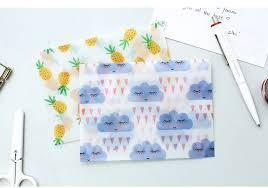 3 Pcs/set Cute Kawaii Flower Fruit Sulfuric Acid Paper <b>Envelope</b> For ...
