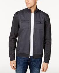 Alfani Reyes <b>Mixed</b>-<b>Media</b> Jacket, Created for Macy's & Reviews ...
