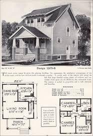 Two story Side Gable Craftsman Plan Cottage   C  L  Bowes Company    c  C  L  Bowes    B