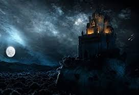 Amazon.com : <b>Laeacco Moon</b> and <b>Castle</b> Backdrop 7x5ft Vinyl ...