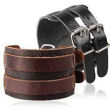 2019 2018 Fashion <b>Vintage Wide Genuine Leather</b> Bracelet For ...