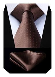 BIYINI <b>Men's Polka Dot Tie</b> Handkerchief Jacquard Woven Classic ...