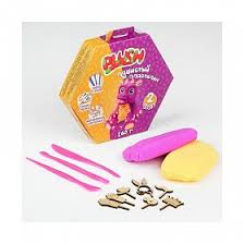 "<b>Набор для лепки</b> ""Пушистый пластилин <b>Plush</b>"" фиолетовый и ..."