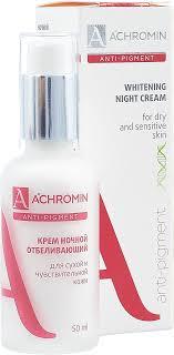 <b>Крем ночной Achromin</b>, <b>отбеливающий</b>, для сухой и ...