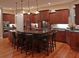 wood cabinets unique kitchen dark floor kitchens