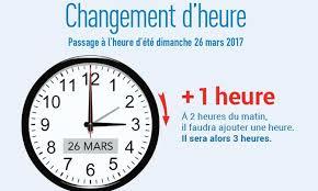 """Résultat de recherche d'images pour """"changement d'heure 2017 france"""""""