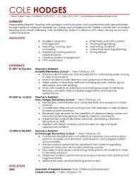 Teacher Assistant Resume Sample  student resume examples     happytom co Graduate Teaching Assistant Resume Samples