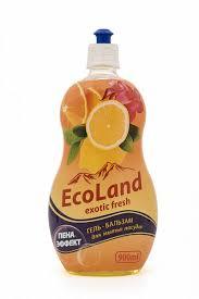 Гель-бальзам для мытья <b>посуды EcoLand</b> пена эффект 900 мл, в ...