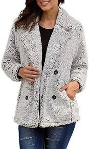 Paitluc <b>Womens</b> Wool Coats Lapel <b>Plush Jacket</b> Oversized Jacket ...