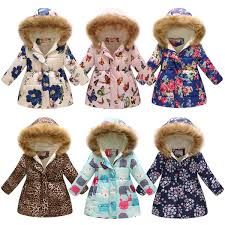 Baby <b>Girls</b> Thickening <b>Floral</b> Outwear Butterfly <b>Flower</b> Leopard Print ...