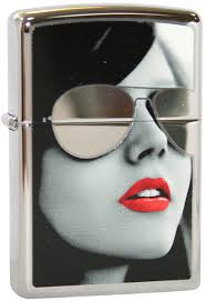 <b>Зажигалка ZIPPO Sunglasses</b> High Polish Chrome, латунь с ник ...