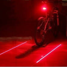 LW <b>Bike Laser Tail Light</b>: 2 Laser Beam 5 LED 7 Flashing Patterns ...