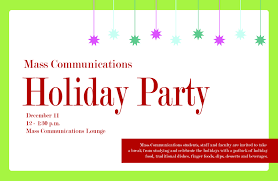 news mass communications holiday party