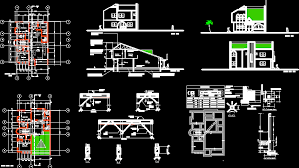 House design in AUTOCAD DRAWING   BiblioCADHouse design  dwgAutocad drawing