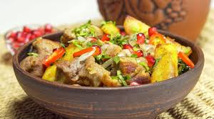 Оджахури — жареное мясо с картофелем. <b>Грузинская кухня</b> ...