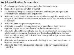 Sales clerk job description 3. Key job qualifications for sales clerk ...