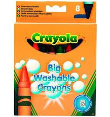 <b>Мелки</b> Crayola набор больших <b>смываемых восковых мелков</b> 8 цв ...