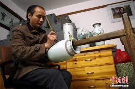 Inheritors of <b>ceramic</b> painting in E China's <b>Jingdezhen</b>[1]- Chinadaily ...