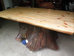 furniture made from tree trunks custom made real oak tree trunk kitchen dining table one of awesome tree trunk coffee table