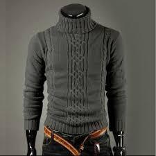 <b>Autumn</b> and Winter <b>Men's</b> Sweater Lapel Long Sleeve Head <b>Large</b> ...
