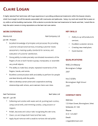 manicurist cv example   hashtag cvmanicurist cv example and template