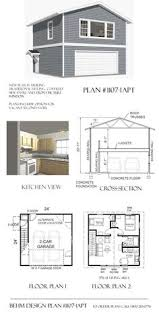 Garage Plans With  Bedroom Apartment  amp  Garage Floor Plans    Maybe have this build for an EXTRA car garage or workshop and have the upstairs for guest suite  Turn a Garage Apartment plan into a tiny house plan