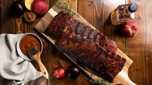 Smoky Stone Fruit and Bourbon BBQ Ribs: <b>Sweet</b>, sticky, fall-<b>off-the</b> ...