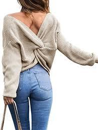 Sexyshine Women's <b>Casual V Neck</b> Criss Cross Backless <b>Long</b> ...