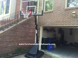 costco spalding portable basketball hoop assembled in ashburn va costco